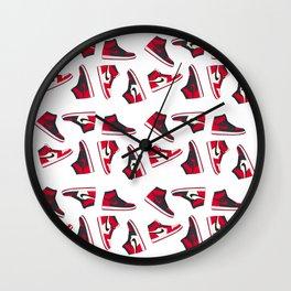 Jordan 1 Pattern Multi-Colors Wall Clock
