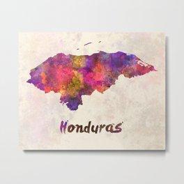 Honduras  in watercolor Metal Print