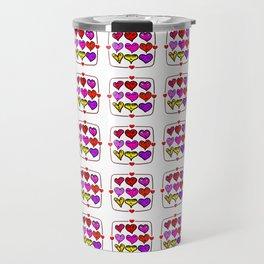 Love Hearts Faces - Valentines Travel Mug