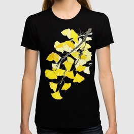 Golden Ginkgo Leaves T-shirt