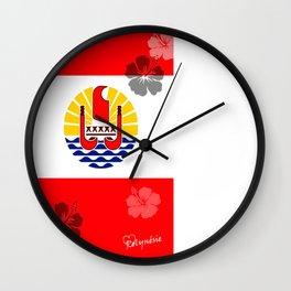 Tahiti flag Wall Clock