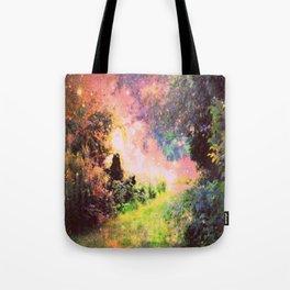 Fantasy Garden Path Deep Pastels Tote Bag