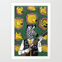 hunter Art Prints featuring Hunter by Studio-Takeuma