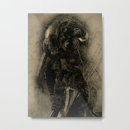 Alien Warrior Mythos 2 Metal Print
