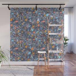 Terrazzo Blues Wall Mural