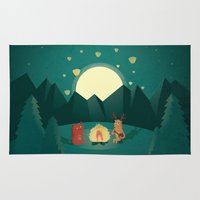 camp Area & Throw Rugs featuring Camp Fires by Milli-Jane