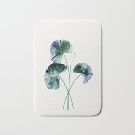 Water lily leaves Bath Mat