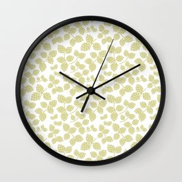 Modern Pinecone in Olive Wall Clock