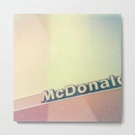 McDonalds Polaroid Metal Print