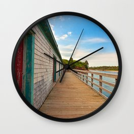 PEI Beach Boardwalk Wall Clock