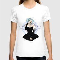 pastel goth T-shirts featuring Goth Pinup by CatAstrophe