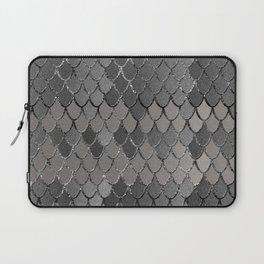 Mermaid Scales Silver Gray Glam #1 #shiny #decor #art #society6 Laptop Sleeve