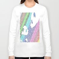pandas Long Sleeve T-shirts featuring colourful pandas  by Dal Sohal