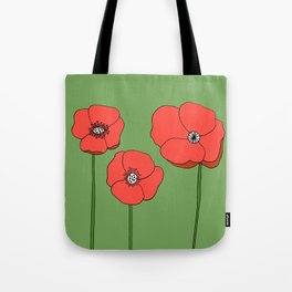 Red Poppies by Emma Freeman Designs Tote Bag