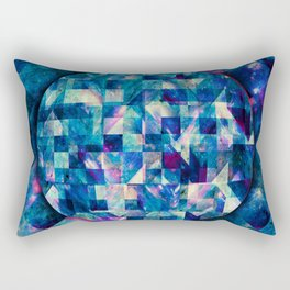 Abstract Geometric Bluish Galaxy Rectangular Pillow