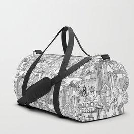 Seattle black white Duffle Bag
