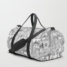 Seattle black white Duffle Bag