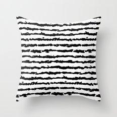 Brush Stripes Throw Pillow