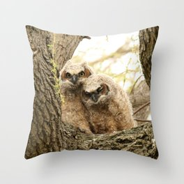 Rest your head on my shoulder Throw Pillow