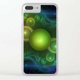Retrotacular Rainbow Dots in a Fractal Microscope Clear iPhone Case