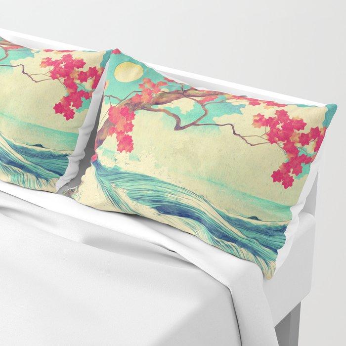 Waking to the Wild and Beautiful Ocean of Dhin Pillow Sham