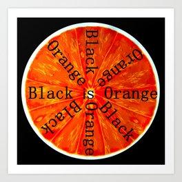 Black is Orange Art Print