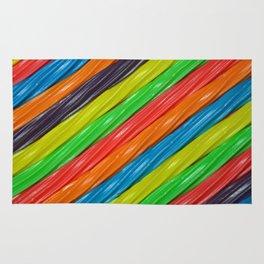 Rainbow colors licorice Rug