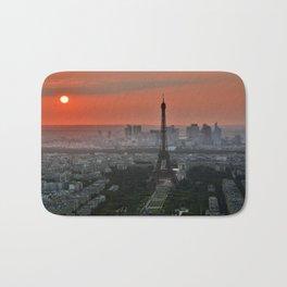 Paris le soir Tour Eiffel Bath Mat