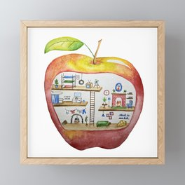 An Apple a Day Gives the Mice a Place to Stay Framed Mini Art Print