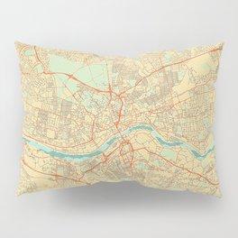 Newcastle upon Tyne Map Retro Pillow Sham