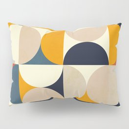 mid century abstract shapes fall winter 1 Pillow Sham