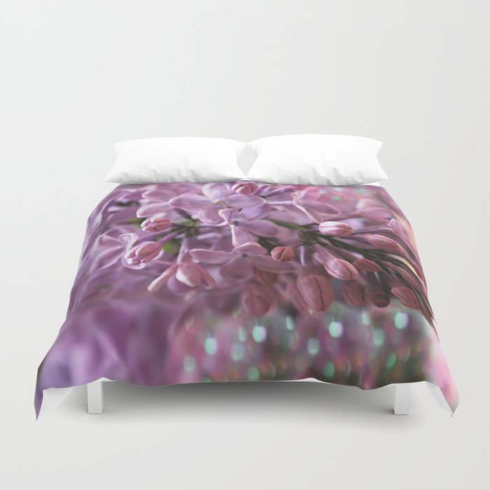 Soft Lilac Glow Duvet Cover