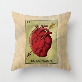 El Corazon Throw Pillow