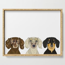 Triple Doxies Serving Tray