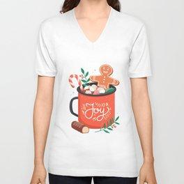 Funny design hot-cocoa-christmas Unisex V-Neck