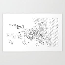 Detroit Wall Study 2 Art Print