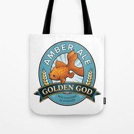 Golden God Amber Ale label Tote Bag