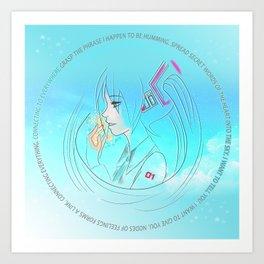 Birth Miku Hatsune Art Print