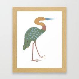 Heron (Illustration) Framed Art Print