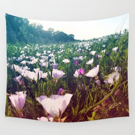 Field of Pink Evening Primrose - Texas Wildflowers Wall Tapestry