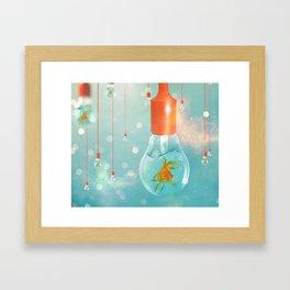 Ideas and Goldfish ... Framed Art Print