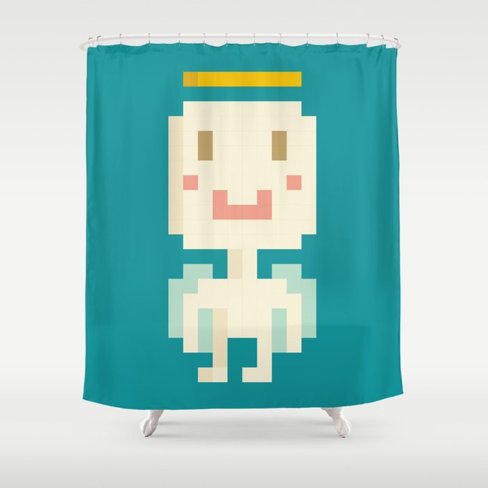 Pixel Angel Shower Curtain