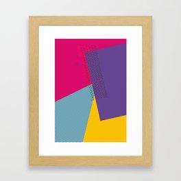 Colorblock - geometric minimal Framed Art Print
