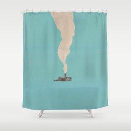 Torn Around — Smoke Shower Curtain