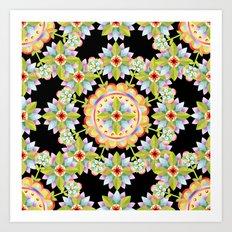 Starflower Mandala Blossoms Art Print