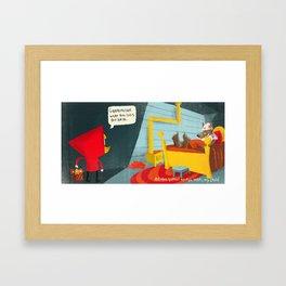 Little Red Riding Hood -  Pg 4 Framed Art Print