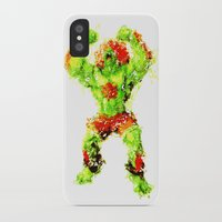 street fighter iPhone & iPod Cases featuring Street Fighter II - Blanka by Carlo Spaziani