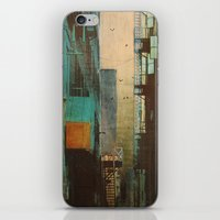 lines iPhone & iPod Skins featuring ESCAPE ROUTE by Liz Brizzi