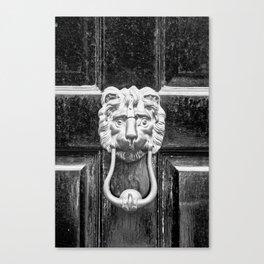The black door Canvas Print