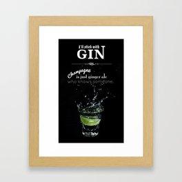 GIN Framed Art Print